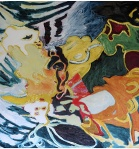 Oil On Canvas, 80 By 70 Inches.